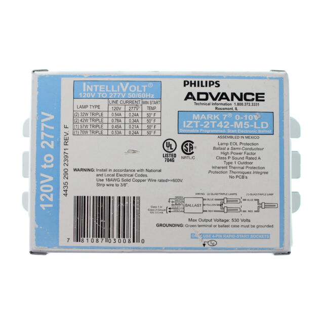PHILIPS ADVANCE ELECTRIC DIMMING BALLAST MARK 10 REZ-2Q-18-M2-LD