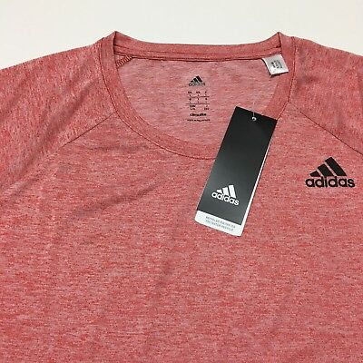 NWT Adidas Design To Move Climalite T shirt Men's Scarlet