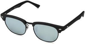 465f1e96e42 Details about Ray-Ban Junior Clubmaster Sunglasses in Matte Black Grey  Flash RJ9050S 100S30 45