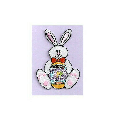 Embroidered Iron On Applique Patch Easter Chick Easter Easter Egg