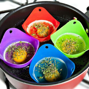 4x-Silicone-Egg-Poacher-Poaching-Poach-Cup-Pods-Mould-Cook-Random-Colours-Useful