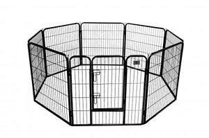 "New BestPet Black 32"" 8 Panel Heavy Duty Pet Playpen Dog Exercise Pen Cat Fence"