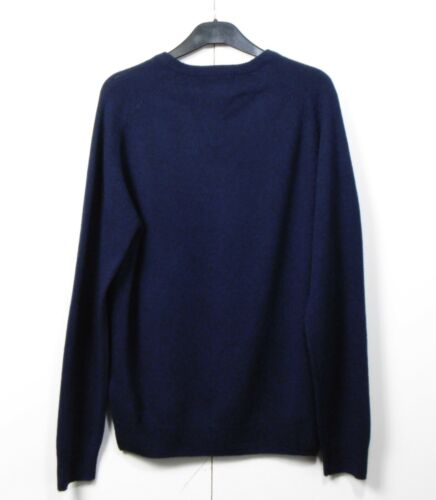 rrp £35 M/&S Gents/' PURE LAMBSWOOL V-Neck JUMPER ~ Size MEDIUM ~ Navy Blue