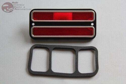 Chevy Pickup Truck Red Rear Side Marker Lamp w Chrome Trim Suburban Blazer Jimmy