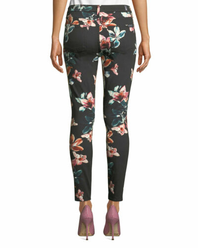 Seven New All floreale 24 stampa 0 Mankind 7 Tropical con Jeans nera Skinny For pdwdt