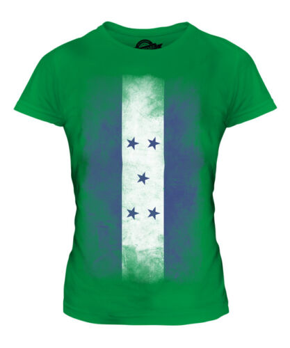 HONDURAS délavé drapeau femmes t-shirt tee top hondurien shirt football jersey cadeau