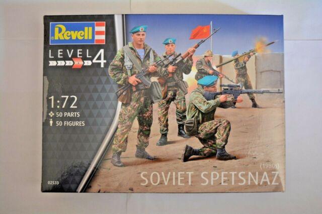 Revell Modellino in Plastica/Soviet Spetsnaz 1980/50 Soldati 02533 50 Pz 1:72