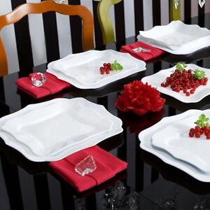 Service-avec-Vaisselle-Blanc-18-pieces-LUMINARC-Authentique-Blanc-verre-opale