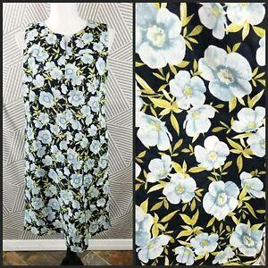 J-Jill-Love-Linen-Tropical-Floral-Sleeveless-Sheath-Dress-Size-XS-Pockets