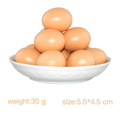 Khaki Fake Rubber Creative Eggs Novelty Joke Farm Egg #D03