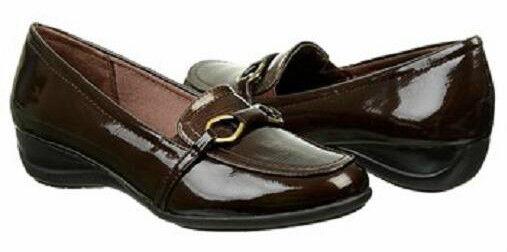 Life Stride Hazel loafer brown patent soft system 8 Md NEW