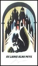 Ratner German X3 Exlibris Bookplate Squirrel Animals architecture s42