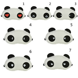 1X-Panda-Face-Eye-Travel-Sleep-Opaque-Masque-Bandeau-Portable-Nap-Couvert-FE