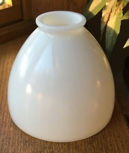 "Vintage milk glass smooth 6x4.75"" torchiere floor lamp shade 2 1/4"" fitter"