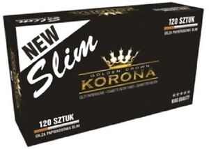 korona slim  Empty Cigarette 1 BOX KORONA SLIM 120 Filtered Cigarette Tubes | eBay
