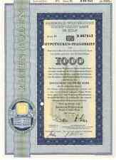 Rheinische - Westfälische Boden-Credit -Bank in Köln 1000DM  1958  Kölner Dom