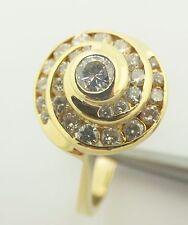 Estate 14k yellow gold spiral diamond ring.