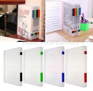 Files-Plastic-Office-Document-Case-Storage-Box-Holder-Paper-School-Organizer-A4