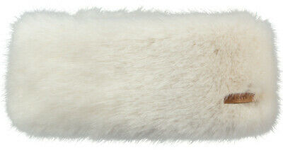 2020 NEW ADULT BARTS  FAUX FUR  DELUXE FLEECE LINED  HEADBAND WHITE