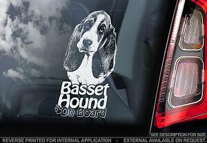 Basset Hound  Dog Car Window Sticker  Dog Sign Bassethound Hush Puppy  TYP2 - Sticker HQ, United Kingdom - Basset Hound  Dog Car Window Sticker  Dog Sign Bassethound Hush Puppy  TYP2 - Sticker HQ, United Kingdom