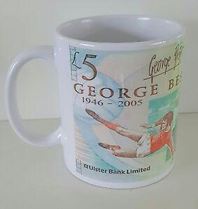 George best five pound note mug Northern Ireland Manchester United free gift box
