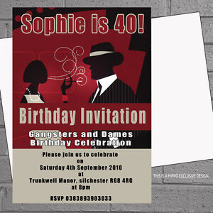 Adult birthday party invitations 1920s flapper dame gangster x 12 image is loading adult birthday party invitations 1920s flapper dame gangster filmwisefo