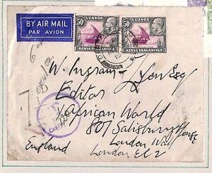DBAP171 1936 KUT UNDERPAID Dar-es-Salaam Maritime BISNCo GB Dues London