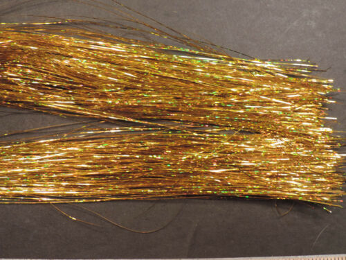 Hank or holographique brins Flashabou oripeaux Fly Flash fly tying fine