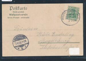 09541) Bahnpost Ovalstempel Magdeburg-thale Train (?) 9, Carte 1903-afficher Le Titre D'origine