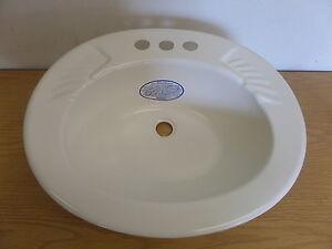 new rv trailer camper bath bathroom ivory oval sink basin 20 x 17 ebay