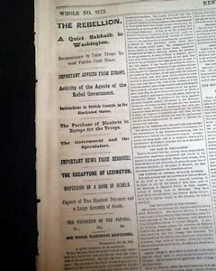 SECOND-BATTLE-OF-LEXINGTON-Army-of-Missouri-w-S-Price-1861-Civil-War-Newspaper