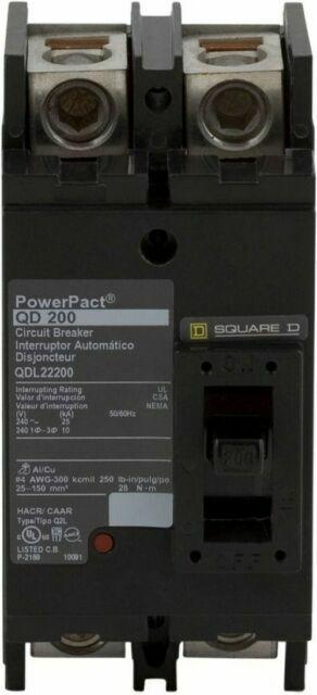 Square D QDL22200 2 Pole 200 Amp Circuit Breaker