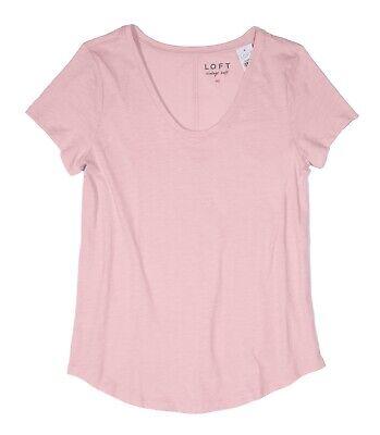 LOFT NWT Women/'s XXS Murky Pink Vintage Soft Cotton Scoop Neck Tee