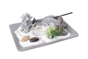 Buddha Zen Garden Spiritual Feng Shui Stone Tea Light Candle Holder Gift Set Box Ebay