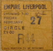 10cc ~ LIVERPOOL EMPIRE FEBRUARY 27 1976 ~ USED CONCERT GIG TICKET STUB