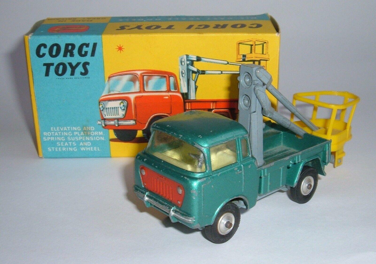 Corgi Toys No. 478, Hydraulic Tower Wagon on Foeward Control Jeep, - Good