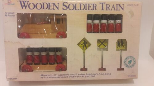 BRAND NEW CHRISTMAS WOODEN SOLDIER TRAIN