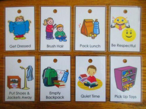 10 Custom Chore or Behavior Cards with Illustrations Your choice no chart needed
