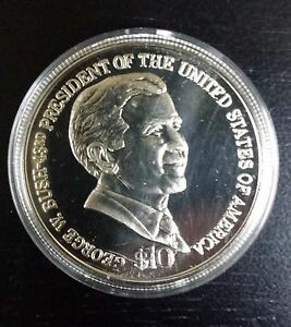 Image Is Loading 10 Dollar 2004 George W Bush Liberia Brilliant
