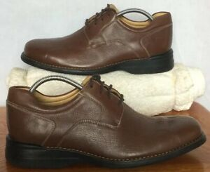 Men-s-Johnston-amp-Murphy-NWOB-11-M-Brown-Leather-Lace-Up-Dress-Oxfords