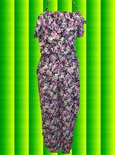 94✪ Indian Boho Jumpsuit Overall HosenAnzug mit Blumenprint und Volants Gr S