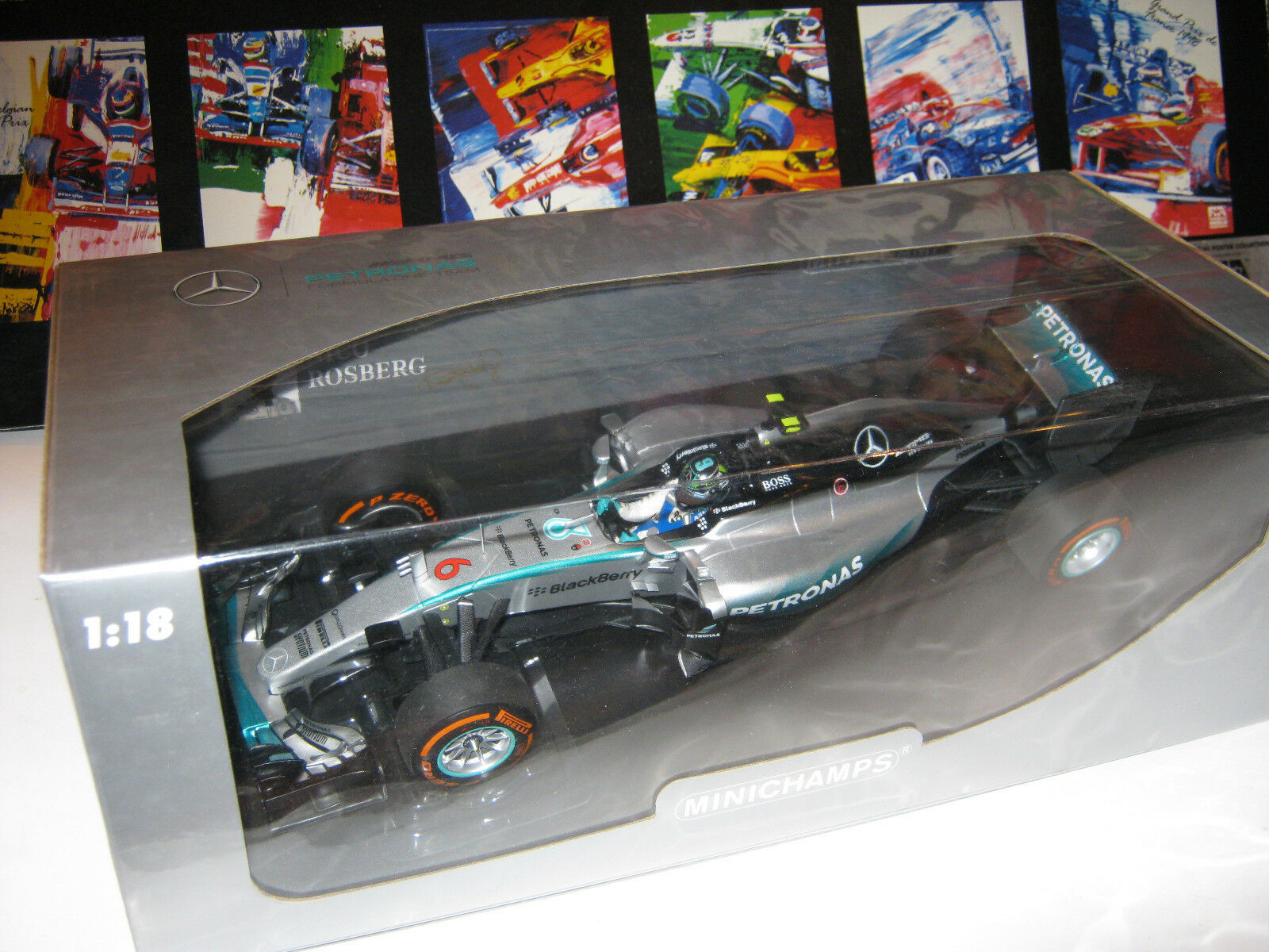 1 18 MERCEDES AMG w06 N. Rosberg Giappone GP 2015 110150206 L.E. Minichamps OVP NEW