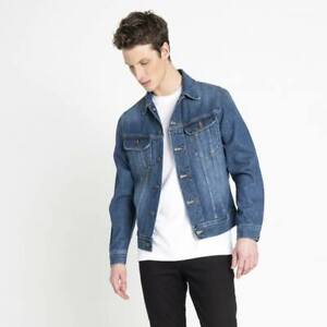 lee slim rider giacca in jeans uomo