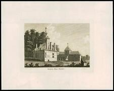 1783 Original Antique Print - BACHEGRIG HOUSE FLINTSHIRE Flint Wales (Q136)