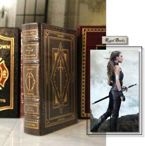 SWORD OF SHANNARA - Easton Press - TERRY BROOKS 🖋SIGNED🖋 SEALED w/ BOX