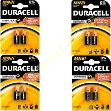 8 x DURACELL MN21 A23 k23A LRV08 Alkaline Battery 12v