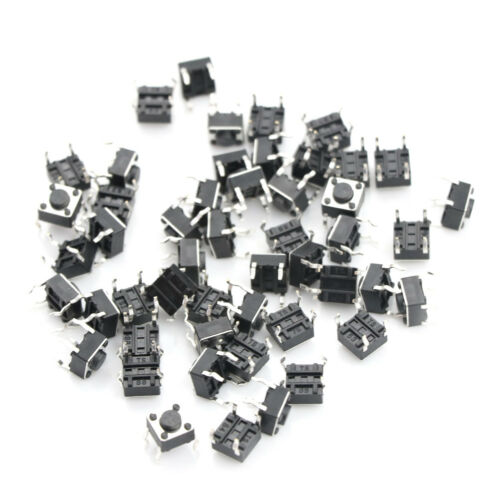 50pc6*6*4.5mm Tact Switch Tactile Push Button Switch Kit Sets 4P Micro Switch  X