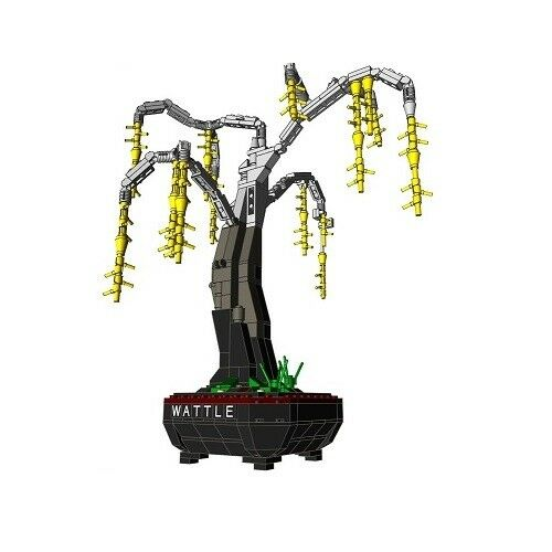 Lego Bonsai Custom Australian Wattle Acacia Tree Instructions Pot Plant Garden
