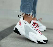 fuga siguiente micro  Nike Zoom 2k Women Lifestyle SNEAKERS Sail White Black Ao0354-101 Size 7  for sale online | eBay