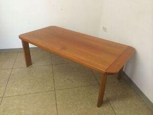 60er-70er-Jahre-Tisch-Coffee-Table-Couchtisch-Teak-Danish-Design-Denmark-60s-70s